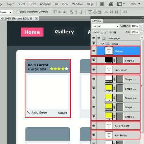 Create an image place holder
