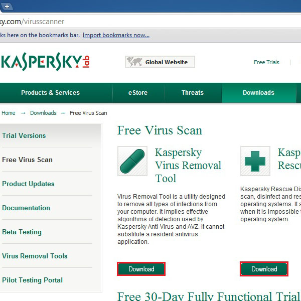 View Kaspersky products