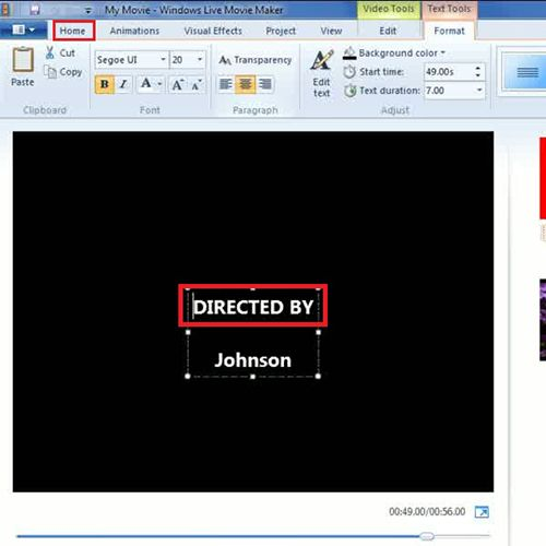 Insert Director's name in Credits