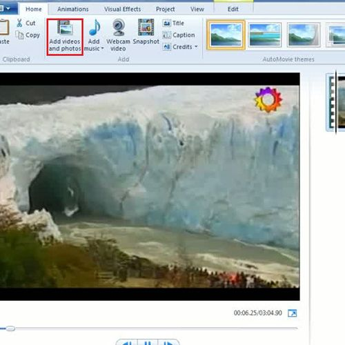 how to add video in movie maker