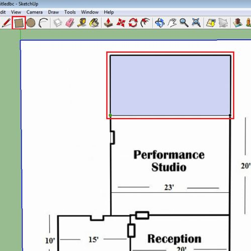 How to model objects with floor plans in google sketchup howtech Google floor plan