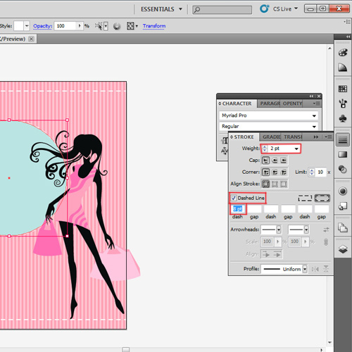 Add vector image and ellipse