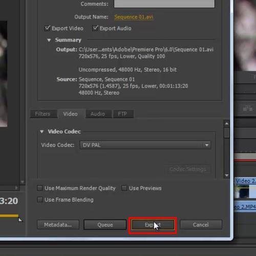 how to export in premiere pro cs6 howtech. Black Bedroom Furniture Sets. Home Design Ideas