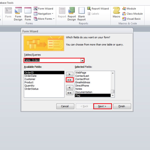 How to Create a Form Using form Wizard in Microsoft Access