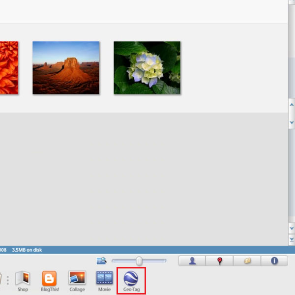 Select a picture by using Picasa