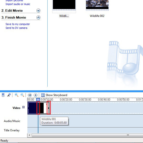 Editing the first part