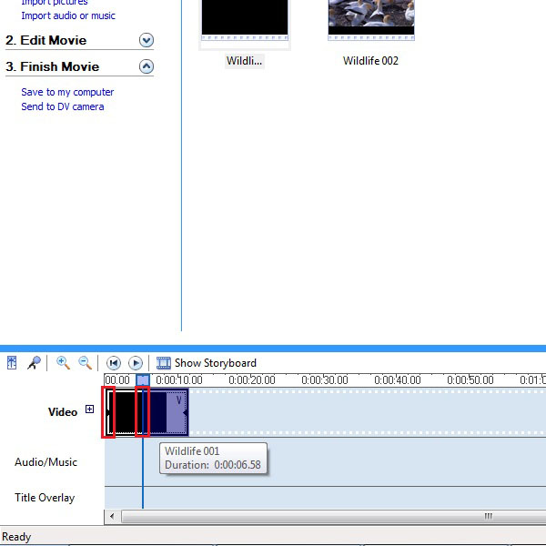 Editing the second part