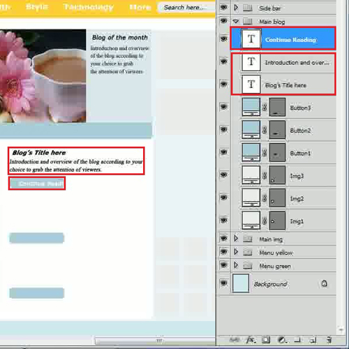 Add text for featured blogs