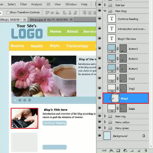 Add an image for featured blogs