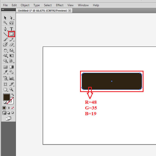Draw a rounded rectangle