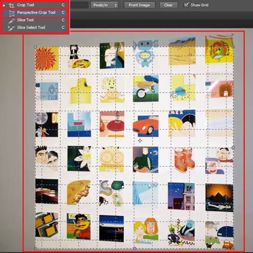 Choose the 'Perspective Crop Tool'