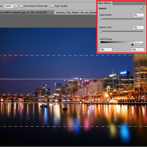 Modify the Blur Effects Panel settings