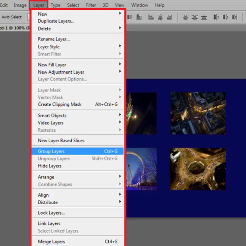 Click on Group layers option