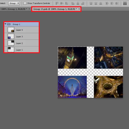 Click on thumbnail of smart objects to edit them