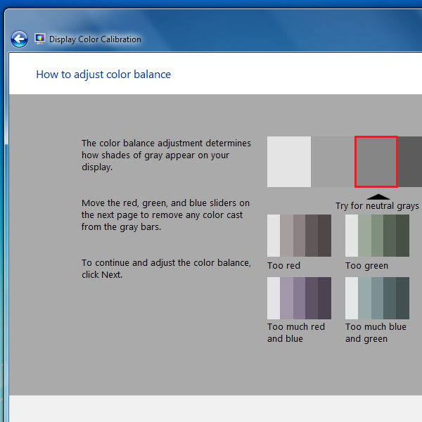 View the example of a perfect color balance