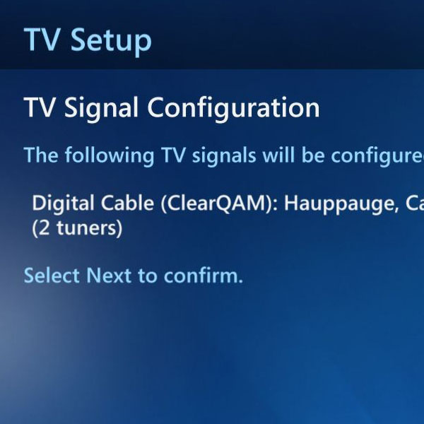 Choosing the configuration for TV signals