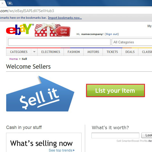 Open the sellers page