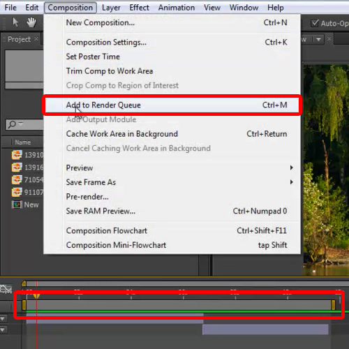 Use Add to Render Queue Option