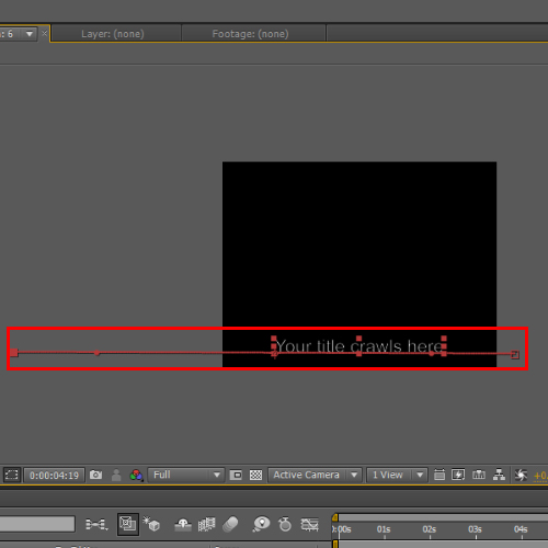 Reference rope for animation along the X-Axis