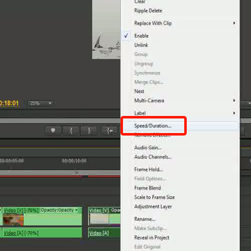 How to playback the video reverse in Adobe Premiere Pro CS6