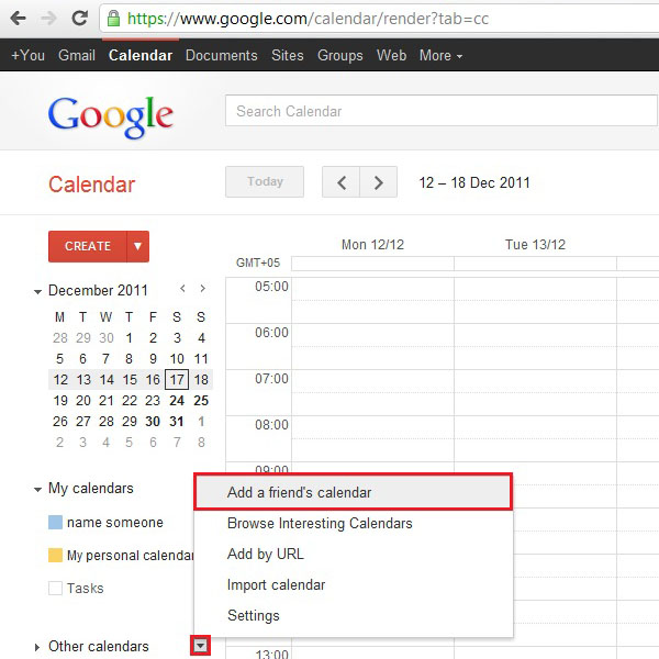 Sync with other calendars