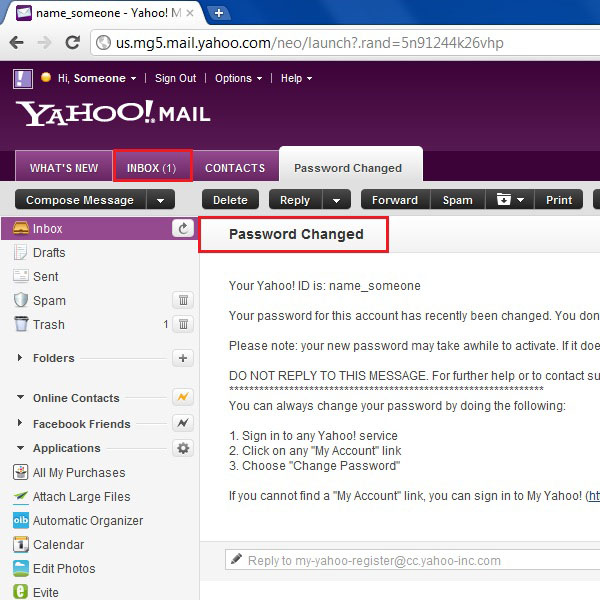 View the confirmation on email