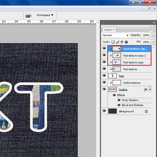 Create multiple texture layers