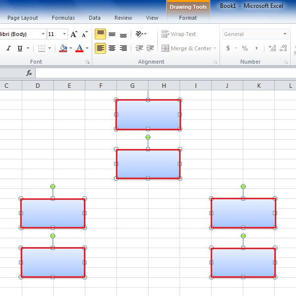Copy and paste the rectangular shape multiple time