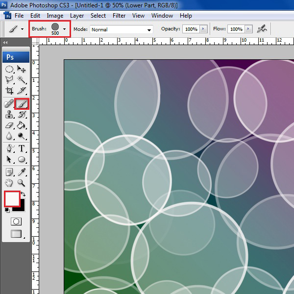 Use Bokeh brush on the layer