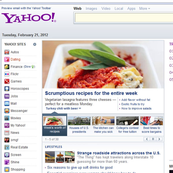 Displaying the web page