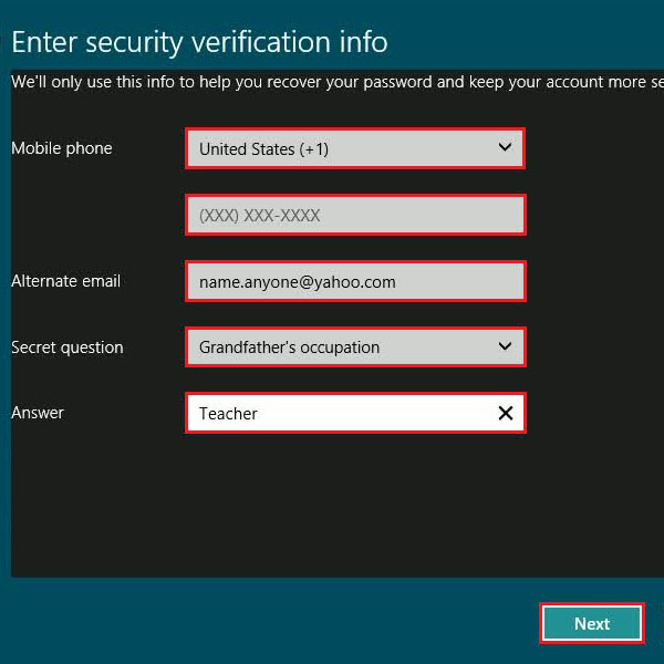 Adjust security settings