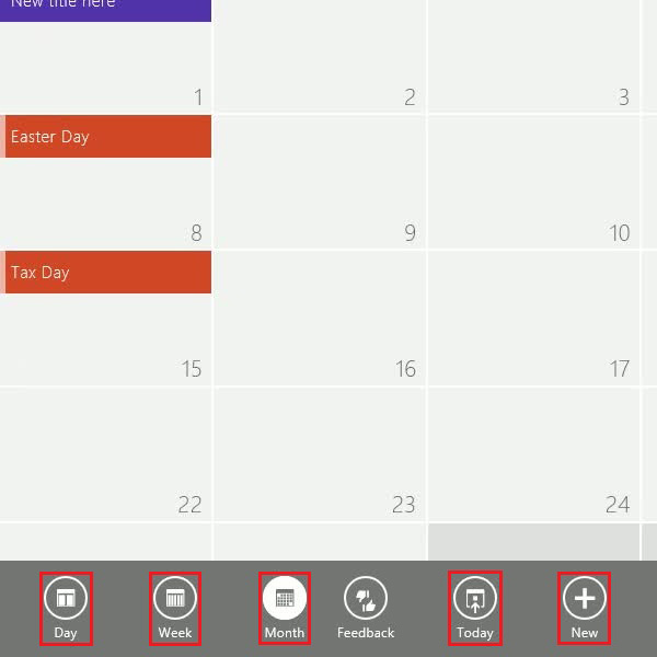 Choose a calendar view