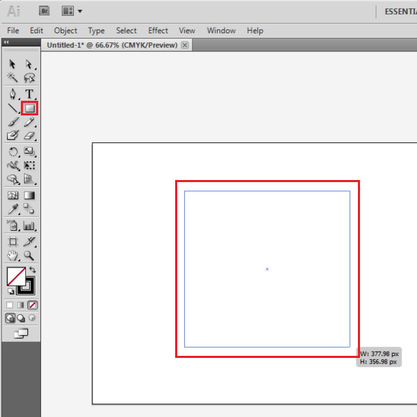 Draw a vector shape