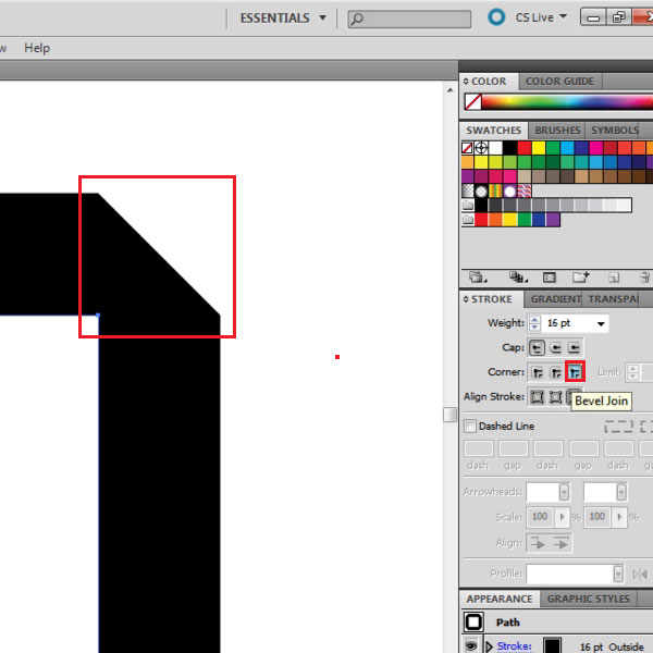illustrator how to make lines change with size of shape