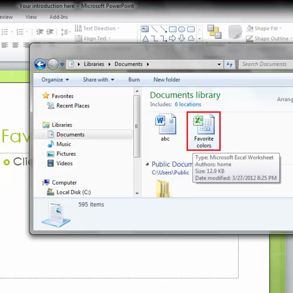 select Excel file