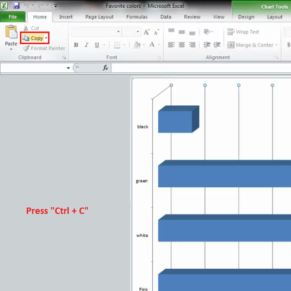 duplicate Excel chart