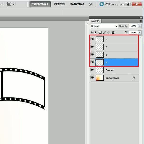 Make separate layers for each frame