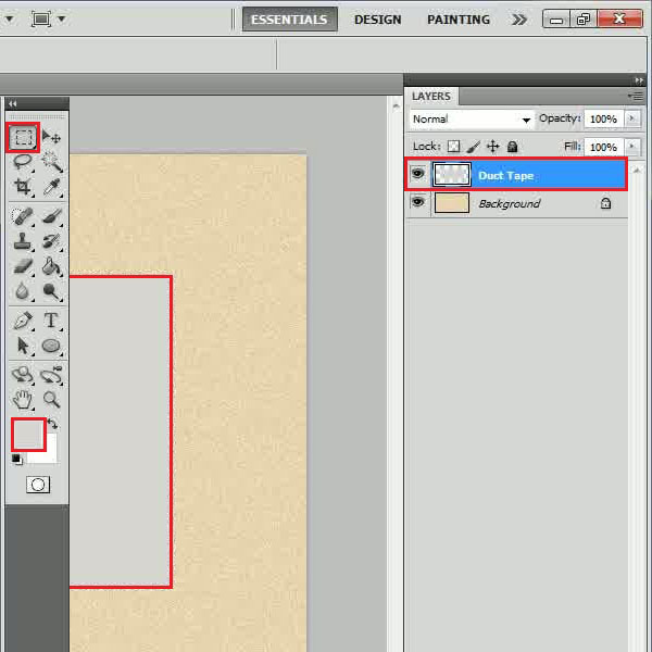 Create a rectangular shape