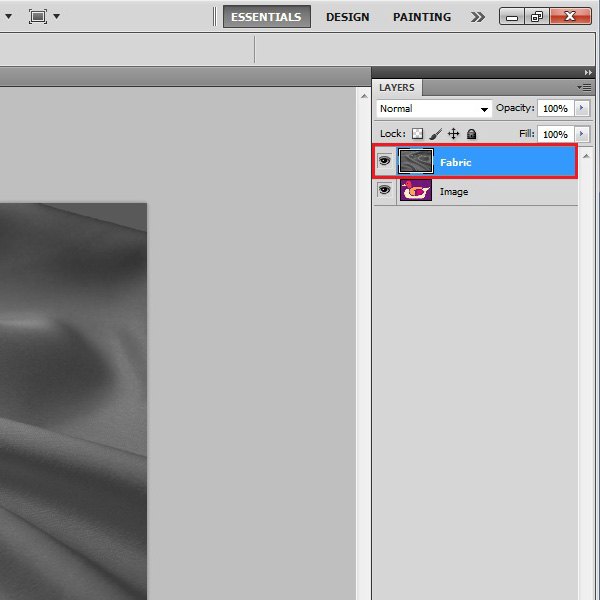 Remove colors and Desaturate the fabric image