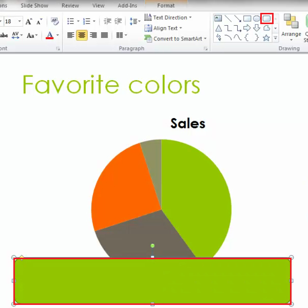 add text shape to a new slide