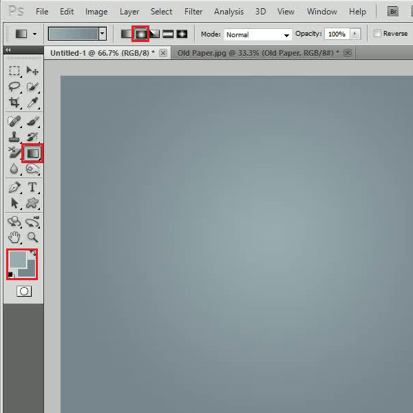Using the gradient tool