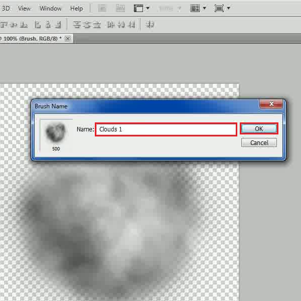 Make a new clouds brush