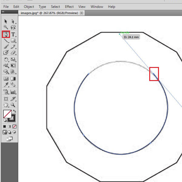 Trace the circular image
