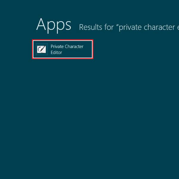 Load the private character editor application