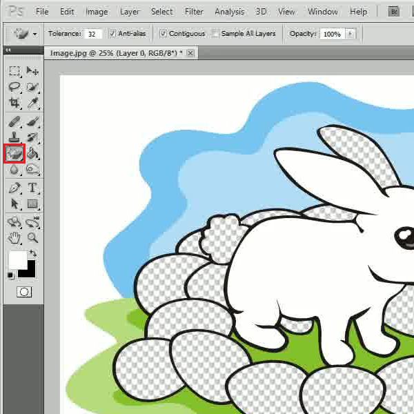 how to change colour of eraser on photoshop